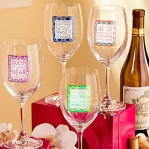 NWT! Wine Lovers | Sassy Quote Wine Glasses | Gift